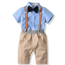 2019 Fashion Summer Toddler Kids Baby Boys Outfit Clothes Shirt+Shorts 2pcs Suits for Pants Gentleman Party Suit