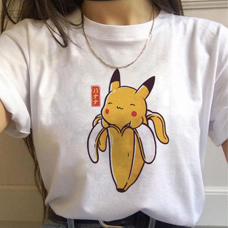 Pokemon Go Harajuku   T     Shirts   Women Kawaii Pikachu Funny Cartoon   T  -  shirt   90s Cute Print Tshirt Fashion Streetwear Top Tees Female