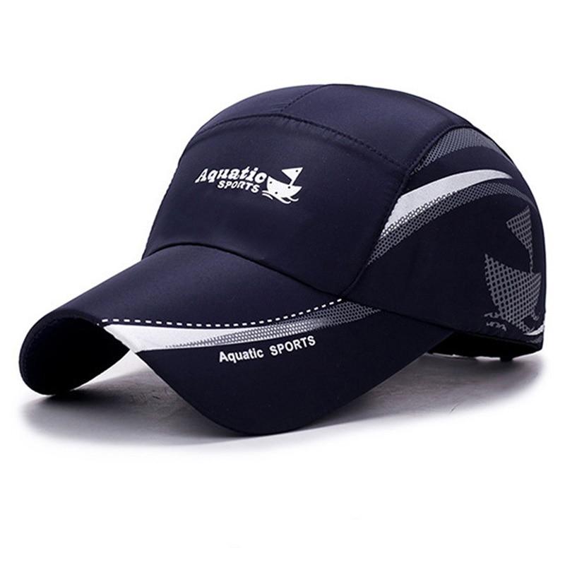 Gorra con visera de malla para hombre y mujer, sombrero de Sol de secado rápido, transpirable, informal, 2020