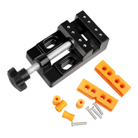 Micro Clip Opening Parallel Table Flat Vise DIY Hand Tools 57mm Adjustable Mini Jaw Bench Clamp Drill Press Vice Table Vise|Vise| |  -