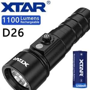 Image 1 - XTAR D26 Diving Flashlight CREE XM L2 U3 max 1100 lumen 4 modes dive light underwater 100 Meters handheld light diving torch