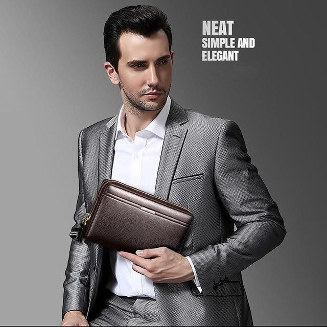 Мужской деловой портфельчик из мягкой искусственной кожи 6