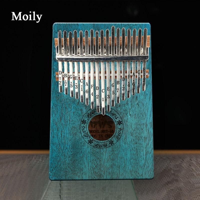Kalimba 17 Key Thumb Piano Mahogany Musical Instruments Mbira Kalimba Hammer Sticker Kit Child Beginners Portable Finger Piano