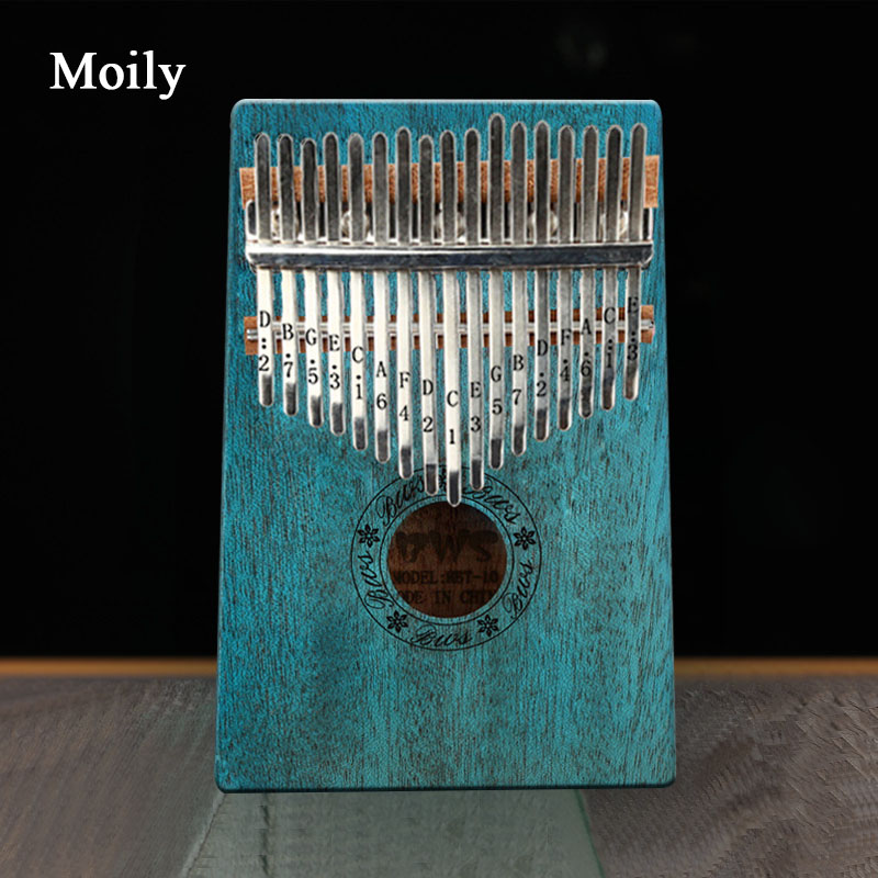 Kalimba 17 Key Thumb Piano Wood Mahogany Calimba Body Musical Instruments Mbira Kalimba with Learning Book & Tune Hammer title=