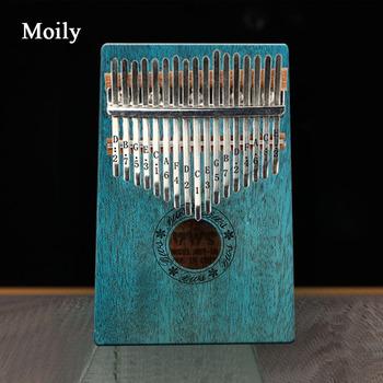 Kalimba 17 klucz kciuk fortepian mahoń instrumenty muzyczne Mbira Kalimba młotek zestaw naklejek dziecko początkujący przenośny palec fortepian tanie i dobre opinie NoEnName_Null Beginner Pianino GMML110003 Z litego drewna 11 18 5cm*13 5cm*3cm Mahogany
