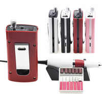 Rechargeable 18W 35000RPM Electric Nail Drill Manicure Machine Set for Nail Pedicure Machine Fingernail Drill Accessories Tools