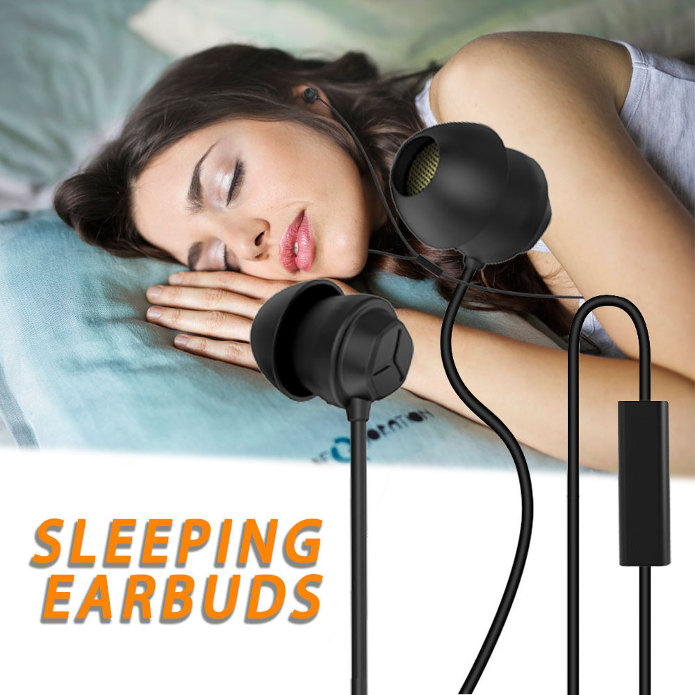 X110 Sleep Earphones Anti-noise Headphones Ultra-soft Silicone Earbuds 3.5mm Wired Headset for iPhone Android Smart Phones