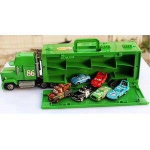 Дисней Pixar тачки большой грузовик корзина Молния Маккуин Мак дядюшка грузовик Джексон шторм грузовик матер литье под давлением металлическ...