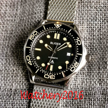 Mens Watch Ceramic Bezel Dial Miyota 8215 Bliger Black NH35 Automatic Sapphire Glass