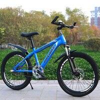 Volwassen Mountainbike 24-Inch Single-Speed Twee-Schijfrem Schokdemper Student Mountainbike