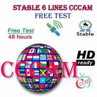 Especial para portugal europa hd 2 ano cccam espanha portugal polónia alemanha polónia receptor de tv por satélite 6 linhas para DVB-S2 v7s v8