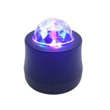 1pcs Disco Ball Party Stage Projector Lights Mini Led Voice Activated USB Crystal Magic Ball Flash DJ Lights for Home KTV Bar Ca stage lamp dj disco crystal rotating light magic ball for ktv bar home 15 color voice activated party effect sound music