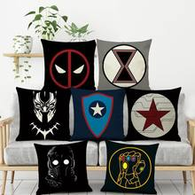 Marvel Avengers Plüsch Deadpool Batman Iron Man Hulk Captain America Spiderman Flachs Weihnachten Geschenk Keine Kissen Kern Kissen Abdeckung(China)