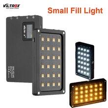 Viltrox miniluz LED portátil para vídeo, luz de relleno con batería integrada para teléfono, cámara, grabación, YouTube, bicolor 2500K 8500K