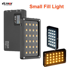 Viltrox rb08 bi color 2500 k 8500 k mini vídeo led luz de preenchimento portátil bateria embutida para o telefone câmera tiro youtube