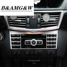 Car Styling Center Console CD Panel Decoration Cover Trim For Mercedes Benz E class W212 2009-2015 Interior auto Accessories
