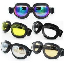 Motocross Goggles Glasses Motorcycle Goggles Sunglasses Scooter Glasses Pilot Retro Jet Helmet Eyewear Vintage Protective Gear