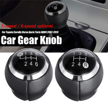Car-Shift-Knob Stick Gear Verso Auris 6-Speed-Lever RAV4 Toyota Corolla 5