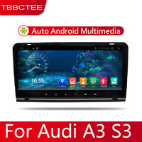 Android 2 Din Car radio Multimedia Video Player auto Stereo GPS MAP For Audi A3 S3 RS3 2003~2012 Media Navi Navigation