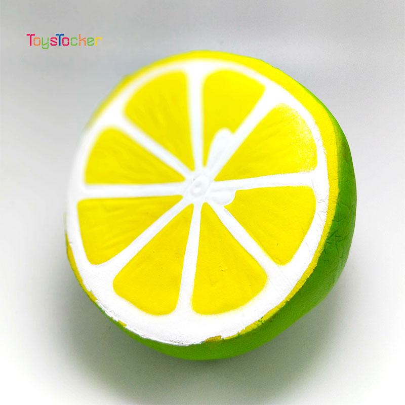 2019  New Hot Sale Jumbo Kawaii Lemon Shape Squishy Squeeze Rising Antistress Abreact Ball Soft Sticky Funny Gift