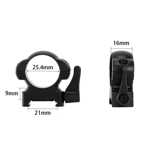 Image 5 - ohhunt 25.4mm or 30mm Diameter Steel Quick Release Picatinny Weaver Low Medium High Profile Hunting Scope Rings Tactical Mounts