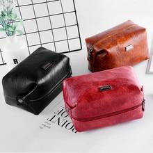 Retro Cosmetic Bag Korea Mini Square Female Carry-on Travel Clutch Portable Storage Small