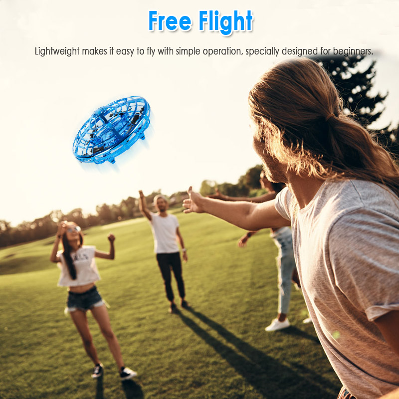 Hand Sensing Flying UFO Ball LED Mini Helicopter Infrared Induction Suspension RC Aircraft Small RC Drone Children Toys Gift