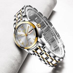 Image 2 - 2020 LIGE Women Watches Stainless Steel Lady Wristwatch Fashion Waterproof Ladies Watch Simple Gold Girl Clock Relogio Feminino