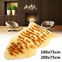Hot New 75*100cm/75*200cm Sheepskin Rug Woolen Sofa Carpet Floor Mat Whole Wool Seat Mat Bay Window Living Room Bedroom Blanket
