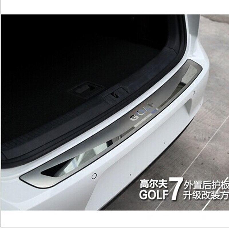 Бесплатная доставка, Высококачественная Накладка на порог заднего бампера из нержавеющей стали для Volkswagen Golf 7 MK7 2013 2014 2015 2016 2017