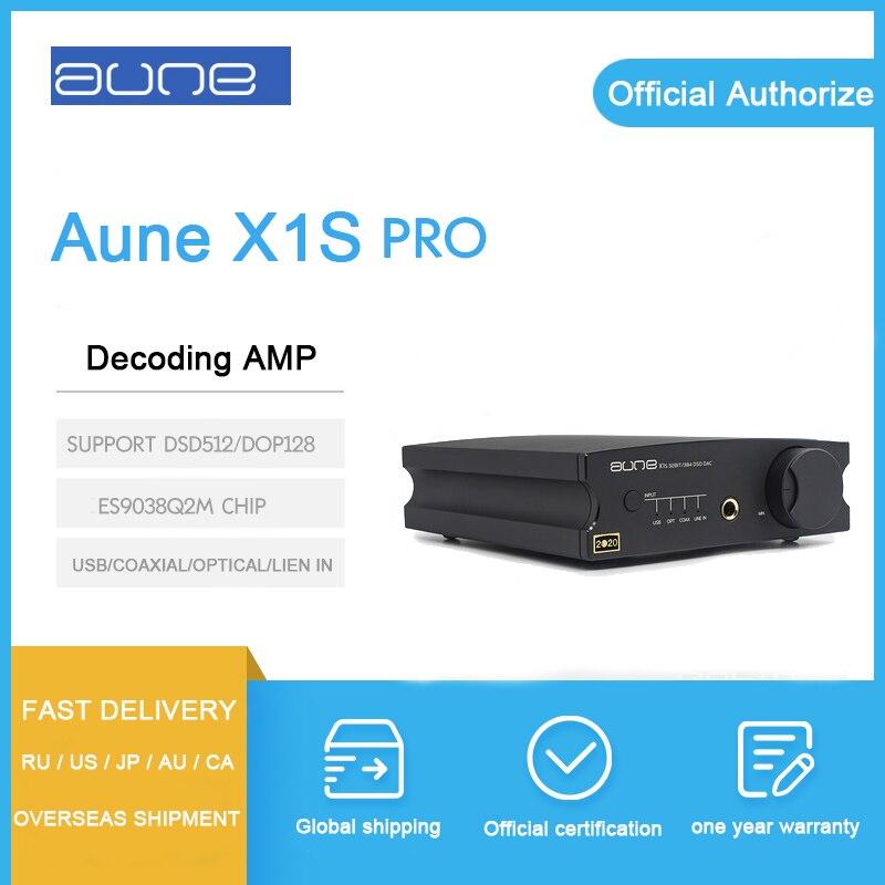 Aune X1S PRO Headphone Amplifier ES9038Q2M chip decoding 32BIT 768K DSD512 USB COAXIAL OPTICAL input dac
