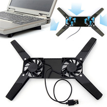 Laptop-Stand Notebook Usb-Rack-Holder Support Foldable Dual-Cooling-Fan New