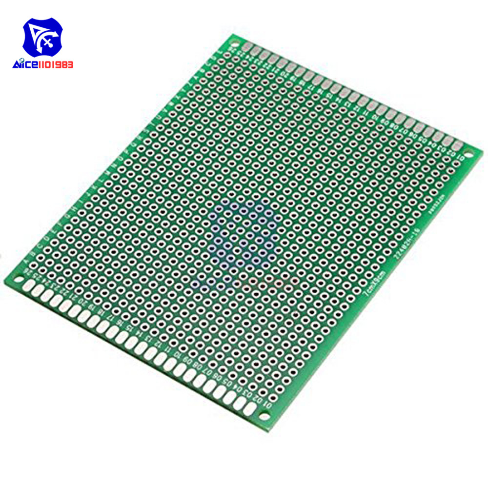 Diymore 7x9cm Universal Printed Circuit Board Double Sided Prototype FR-4 PCB Board 70*90mm