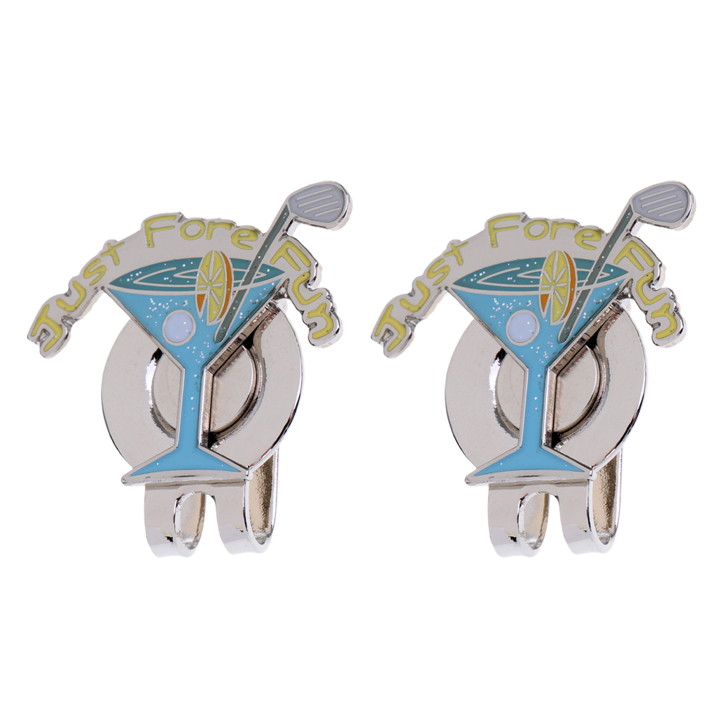 2 Pieces Golf Hat Clip With Detachable Magnetic Golf Marker Golf Accessories Golf Gift Blue Goblet Keepsake
