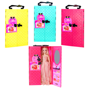 Image 5 - DIY miniature dollhouse doll house doll closet with doll house furniture toys for children Christmas gift
