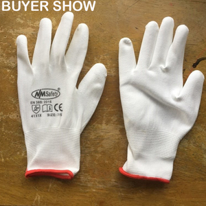 Image 4 - 24Pieces White Anti Static Protective Work Gloves with Nylon Knitted Liner Dipped PU On Palm Glove