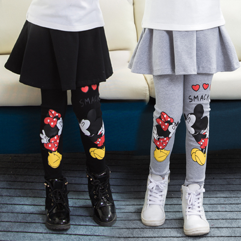 Girl Legging Cute Cartoon Skirt-pants Cake Skirt Baby Girl Winter Warm Leggings Children's Girls Skirt Pant Bootcut For 2-7T