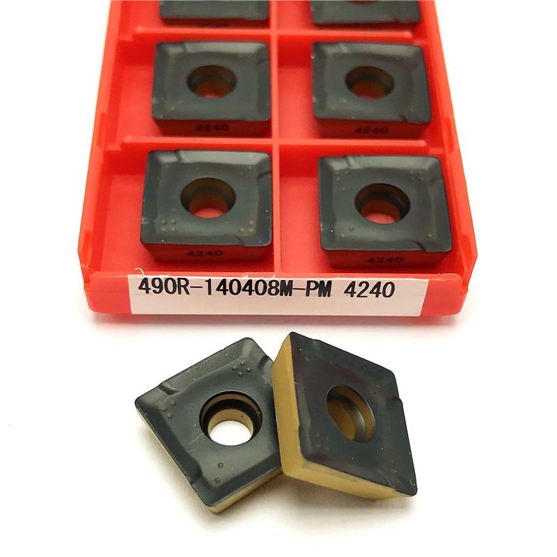Sandvik 10Pcs 490R-140408M-PM 1130 CNC Carbide Milling Insert