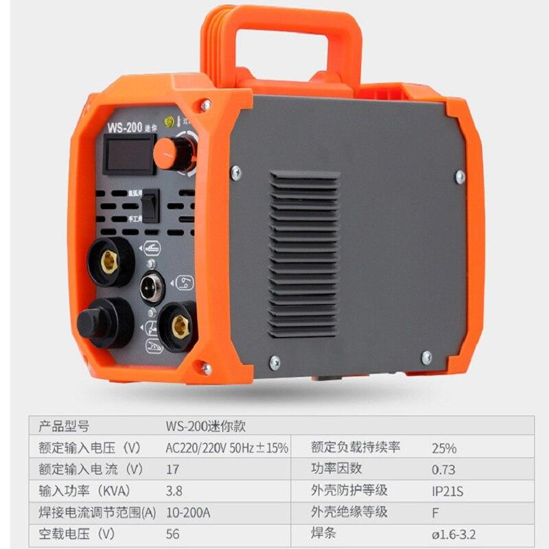 Tig Schweißer WS 200A TIG MMA 220V Argon Tig Steuerung Schweiß Maschine Edelstahl Eisen IGBT Technologie