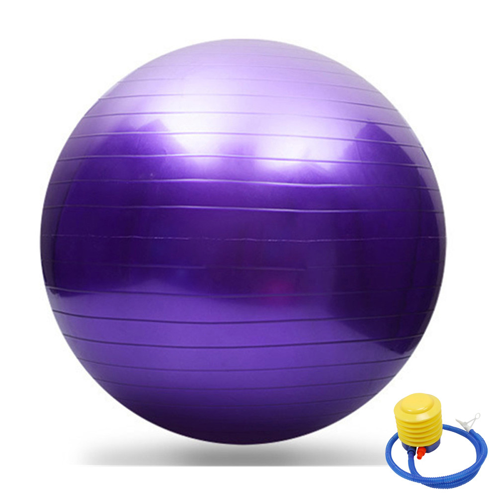 Yoga Ball Exercise Fitness Balance Gymnastic Strength  65cm With PUMP