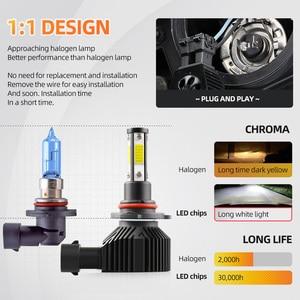 PANDUK 2 шт. 360 градусов светодиодный 14000LM H7 H11 светодиодный лампы H8 H9 9005 HB3 9006 HB4 Авто головной светильник 6000 К туман светильник 12V 6000K