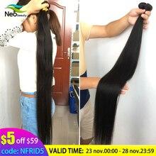 """8 """" 28"""" 30 32 34 36 38 40 אינץ 1/3/4 ישר שיער חבילות זמין 10A שיער טבעי ישר בתולה ברזילאי שיער Weave חבילות"""