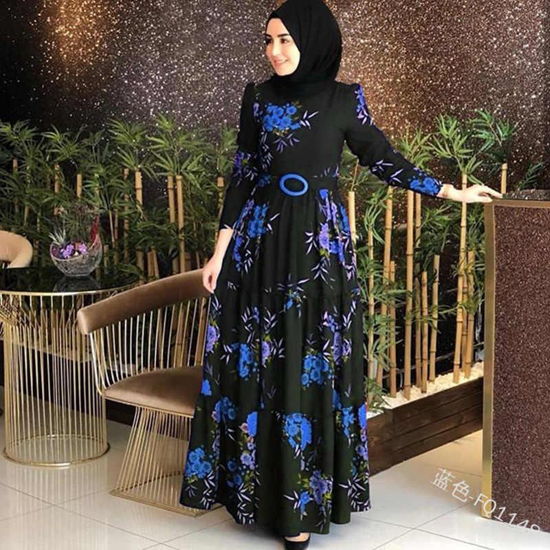 マタニティ衣類女性アバヤイスラム教徒ドレストルコカフタンモロッコカフタンヒジャーブ長袖ドレスイスラムプラスサイズ S-5XL