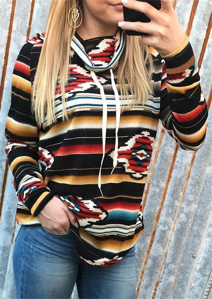Striped Sweatshirt Women Hoodie Autumn Women Top Long Sleeve Tops Fashion Pullovers Streetwear Sweatshirts Polerones Mujer 2019
