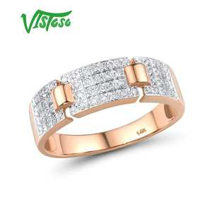 VISTOSO Gold Rings Engagement-Rings Fine-Jewelry Diamond 14K Promise Sparkling Women