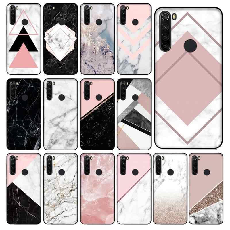 Yinuoda capinha de celular dourada, rosa, com glitter, mármore, preta, de tpu macio, de borracha, para xiaomi redmi 5plus 5a 6 6a 7 7a note 7 8 8t 8pro