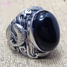 Best selling new mens silver ring 925 Sterling Silver Ring  set with natural stones silver ring for men  Thai silver Man's ring