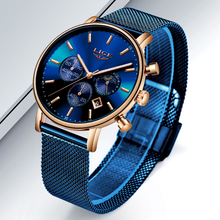 LIGE Mens Watches Top Brand Luxury Sport Watch Ultrathin Mes