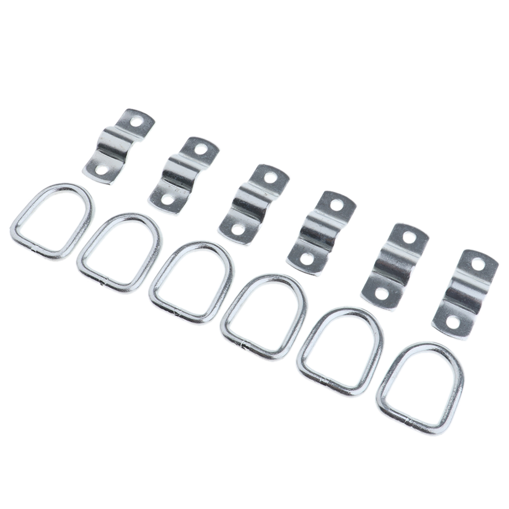 Tie Down Anchor 6 Pk Surface Mount Breaking Strength Super Strong D Ring