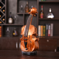 Nordic Design Piggy Bank Wood Violin Money Boxes Transparent Coin Bank Best Birthday Gifts For Kids Resin Crafts Room Decoration